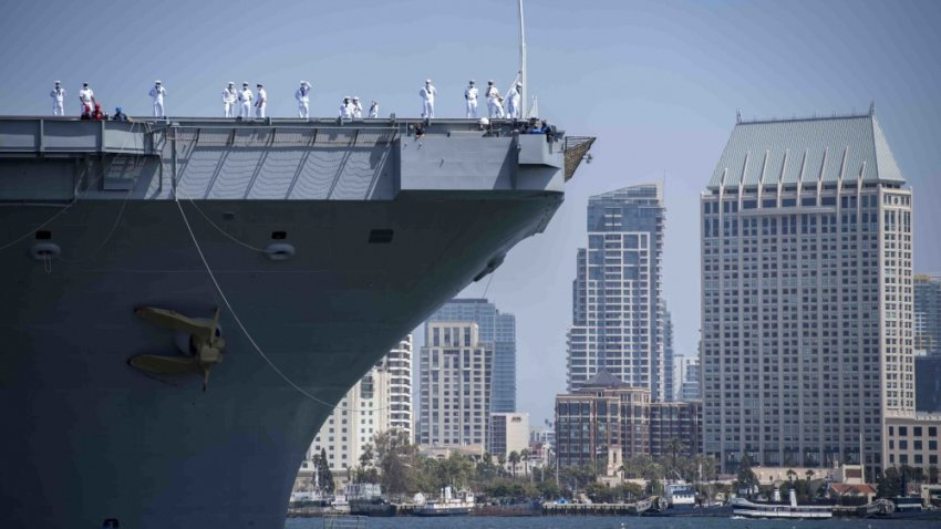 USS Carl Vinson arrives in San Diego