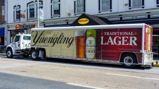A Yuengling Brewery delivery truck