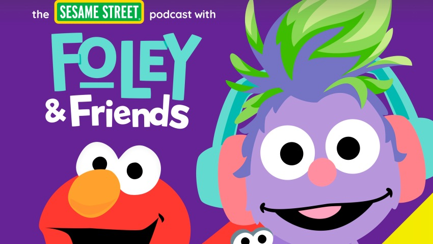 "This image released by Audible shows cover art for ""The Sesame Street Podcast with Foley & Friends."""