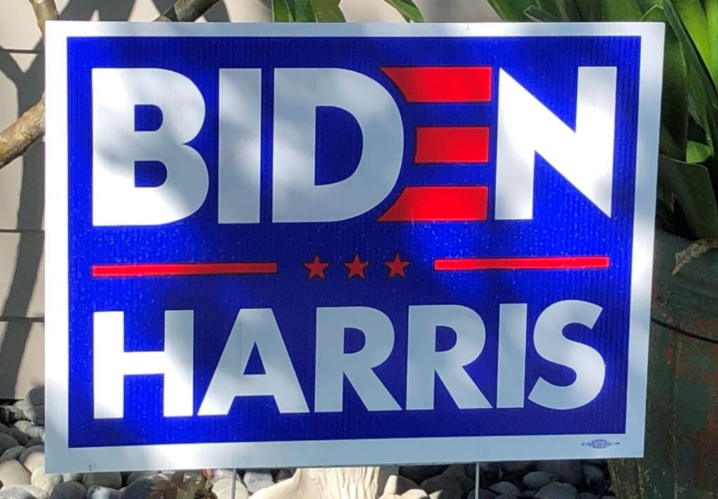 A Biden/Harris sign spotted on Coronado on Oct. 28.