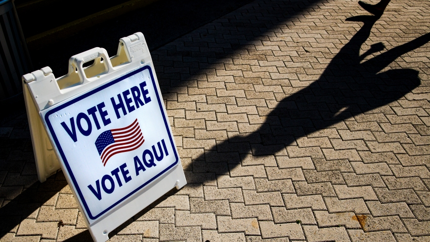 Vote Here Sign In English And Spanish