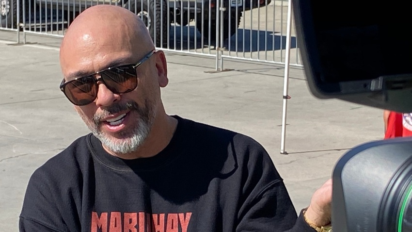 """Stand-up comedian Jo Koy smiles following a ceremony in which San Diego named Oct. 16, 2020 as """"Jo Koy Day."""""""
