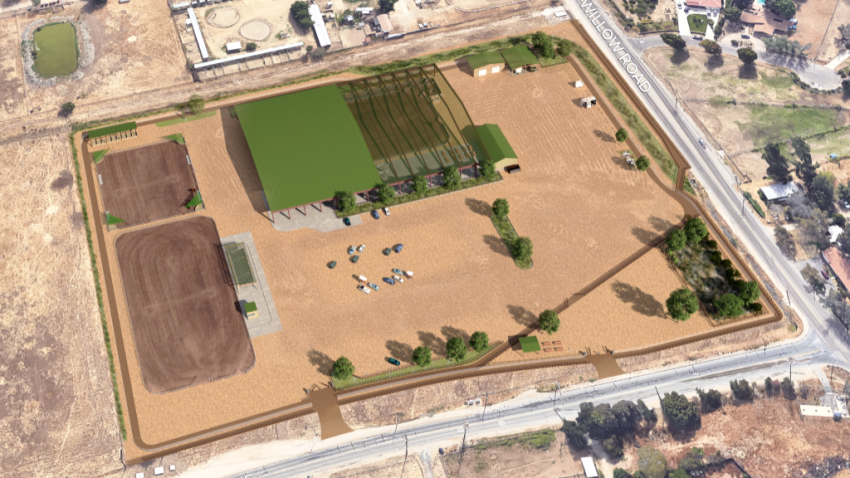 A rendering shows what the Lakeside Equestrian Park is slated to look like upon completion.