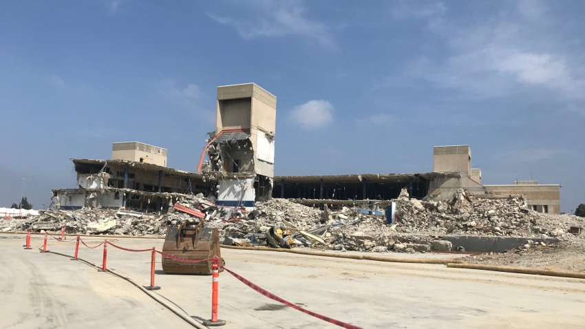 Demolition at old Midway Post Office