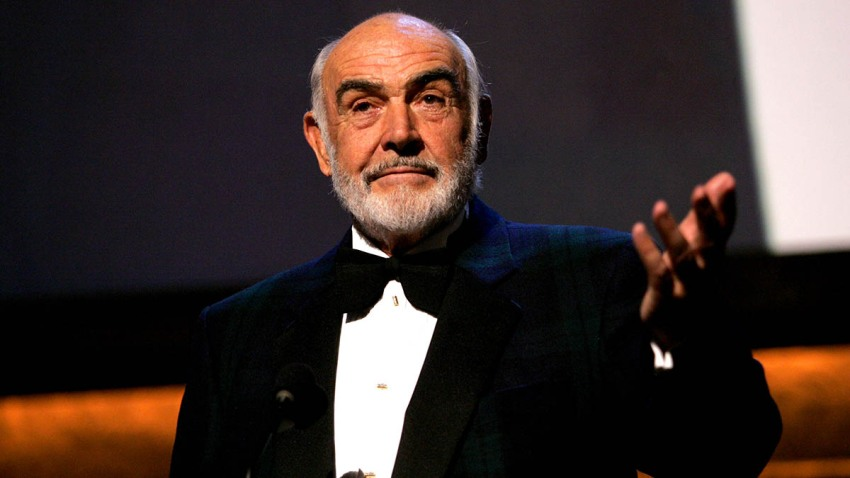 Actor Sean Connery speaks onstage during the 35th AFI Life Achievement Award tribute to Al Pacino held at the Kodak Theatre on June 7, 2007, in Hollywood, California.