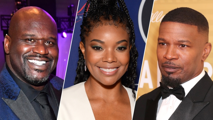 "From left: Shaquille O'Neal, Gabrielle Union and Jamie Foxx are set to participate in a live-streamed special of ""Black Entrepreneurs Day."""