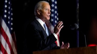 President-elect Joe Biden speaks in Wilmington, Del.