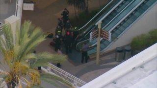 Fashion Valley mall escalator accident.