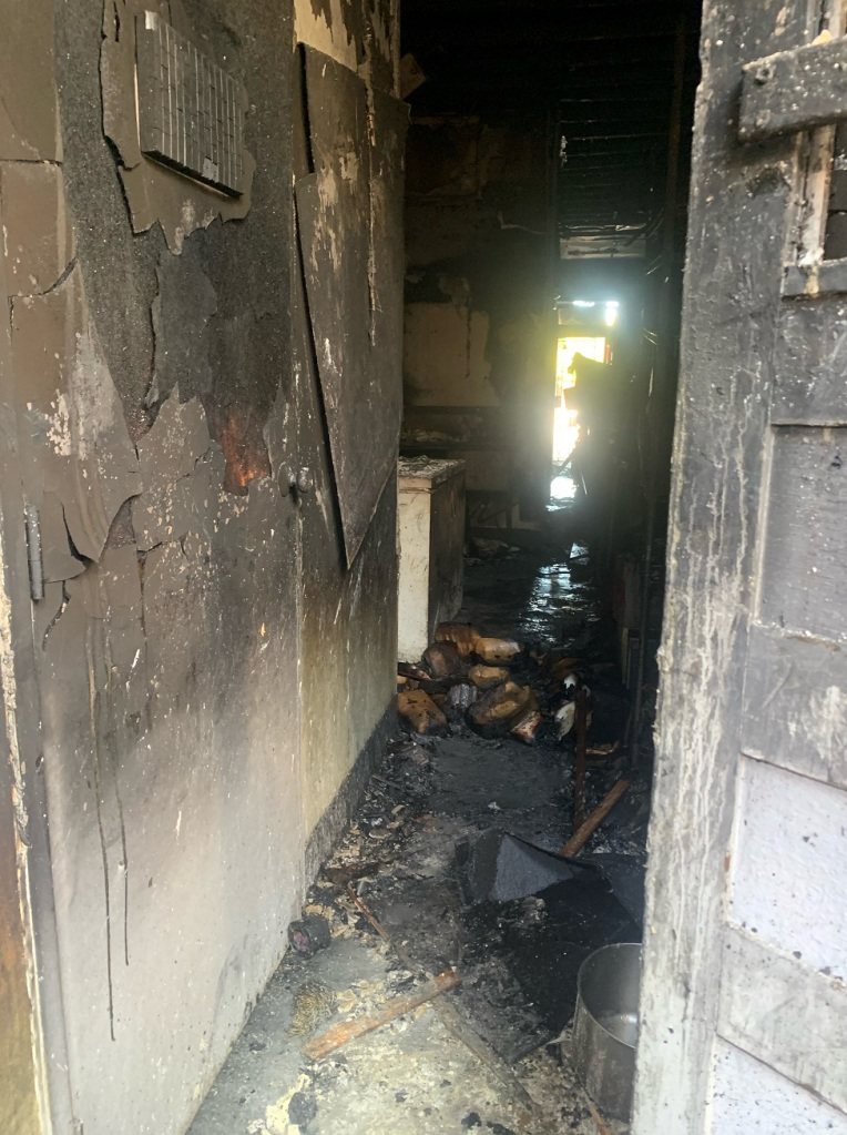 A look inside Hamilton's Tavern following the fire.