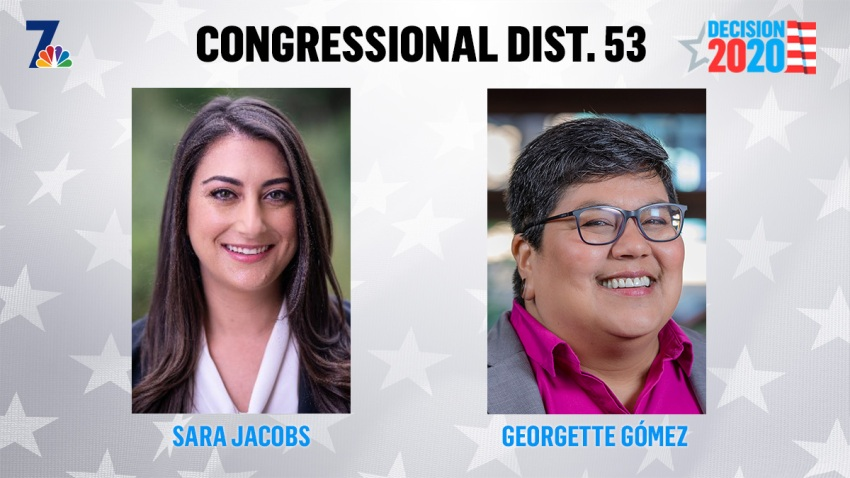 Sara Jacobs (left) vs. Georgette Gomez (right) in the race for the 53rd District.