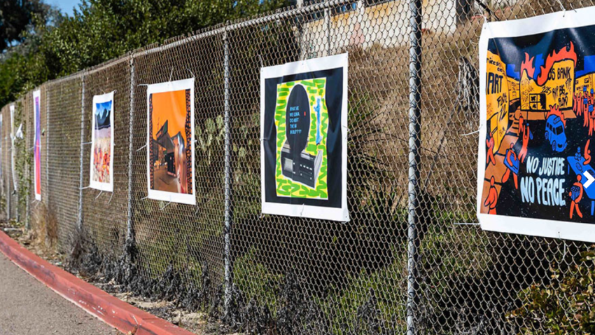 San Diego Mesa College is hosting a drive-in art exhibit now until Dec. 9, 2020.