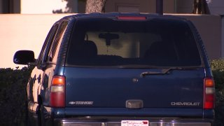 A vehicle involved in a shooting in Clairemont.