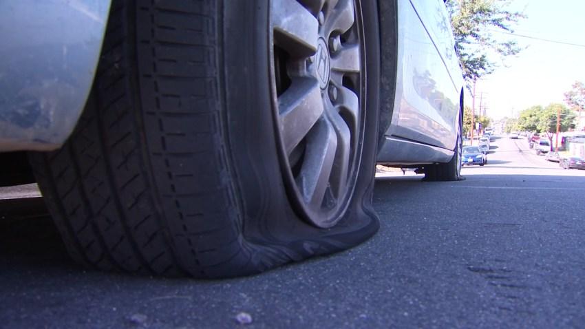 tires slashed in Encanto