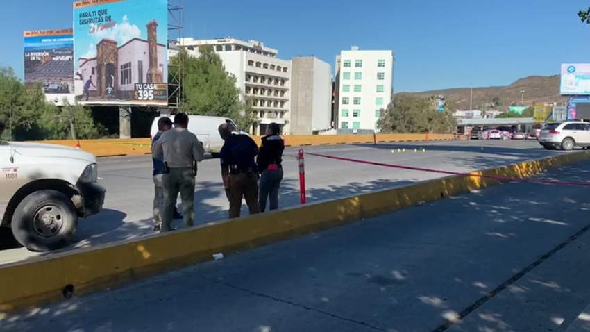 Authorities respond to the scene of a fatal shooting on Tuesday, Nov. 17, 2020 near the U.S.-Mexico border.