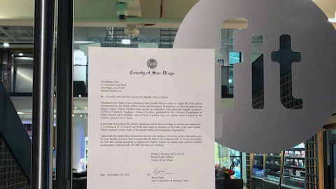 a cease and desist letter at Fit Athletic Club