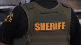 An up-close look at a San Diego County Sheriff's Department deputy's vest.