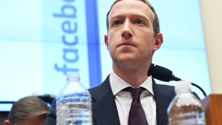 Facebook Chairman and CEO Mark Zuckerberg testifies at a House Financial Services Committee hearing in Washington, October 23, 2019.