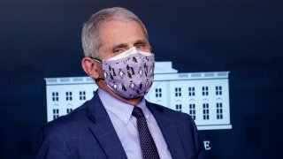 Dr. Anthony Fauci in a facemask