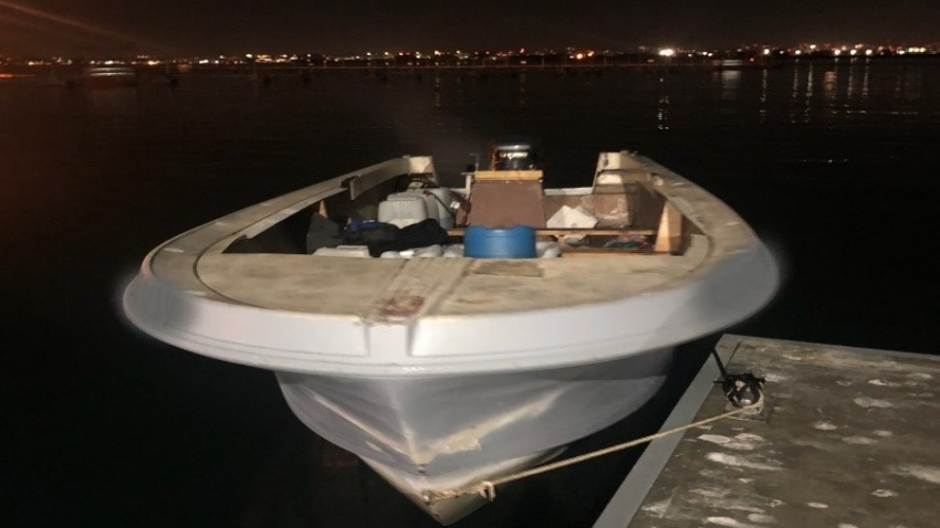 An image of the panga boat used during what the U.S. Border Patrol described as a human smuggling attempt on Tuesday, Dec. 8, 2020.
