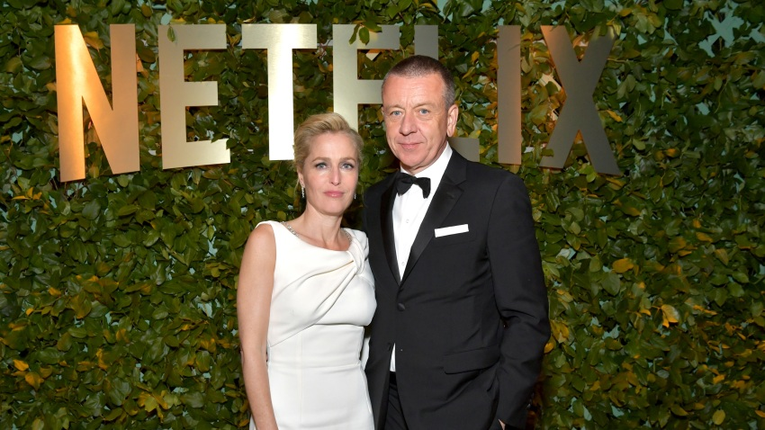 (L-R) Gillian Anderson and Peter Morgan
