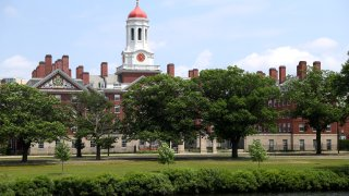 CAMBRIDGE, MASSACHUSETTS - JULY 08: A view of the campus of Harvard University on July 08, 2020 in Cambridge, Massachusetts. Harvard and Massachusetts Institute of Technology have sued the Trump administration for its decision to strip international college students of their visas if all of their courses are held online.