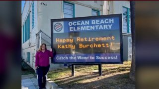 Kathy Burchett is retiring from the San Diego Unified School District after a 25-year career,