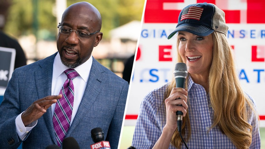 U.S. Senate candidates from Georgia Raphael Warnock (D) and Kelly Loeffler (R).