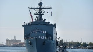 Ships arrive in San Pedro for Fleet Week where guests can tour the nation's sea vessels for free