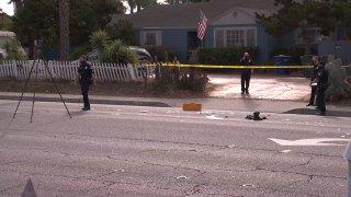 El Cajon Officer Hurt Scene