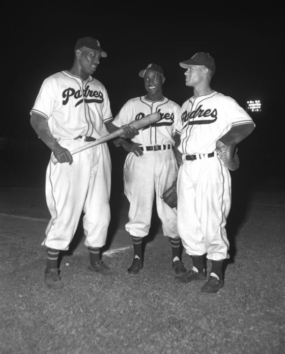 (From left to right) Luke Easter, Artie Wilson and Johnny Ritchey integrated the minor-league San Diego Padres.