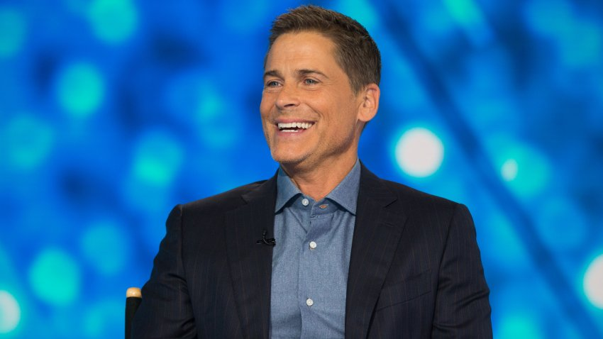 "In this Sept. 6, 2018, file photo, Rob Lowe appears on the set of ""TODAY"" on NBC."