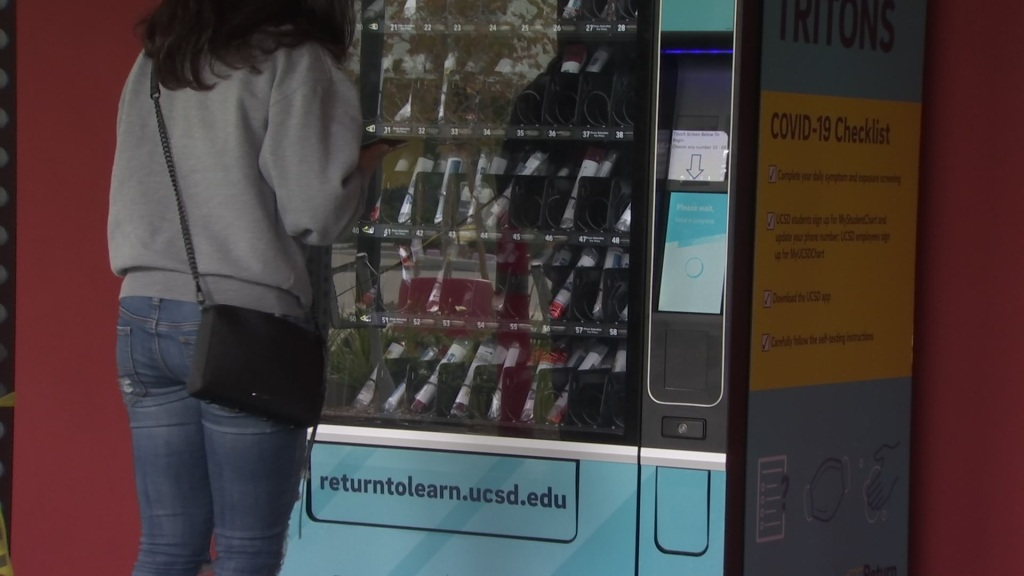 COVID-19 tests in a vending machine