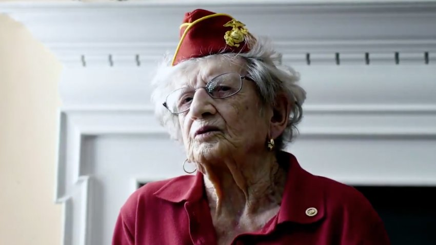 Dorothy Schmidt Cole, above, was the oldest living Marine before she died at age 107.