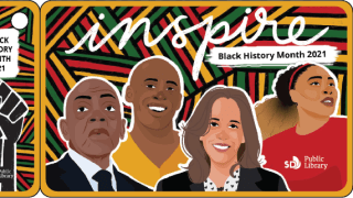 San Diego Library's Black History Month card