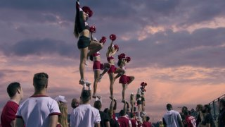 """A production still from """"Cheer"""""""