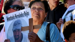 USA: Immigration: Activists Protest Abuses by Border Patrol Agents at U.S. Mexico Border