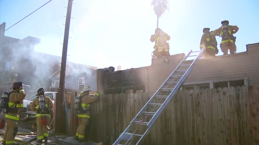 Fire at a home in Golden Hill
