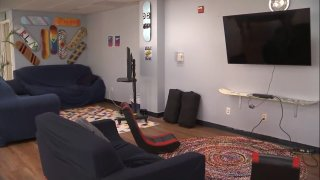 Inside one of the homeless youth shelters