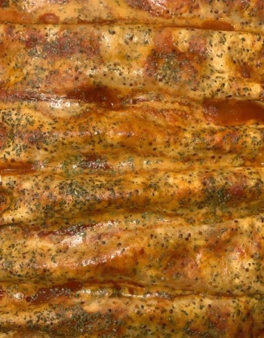 The Vegan Lion's fajita enchiladas.