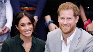 In this Oct. 3, 2018, file photo, Meghan, Duchess of Sussex, and Prince Harry, Duke of Sussex, make an official visit to the Joff Youth Centre in Peacehaven, United Kingdom.