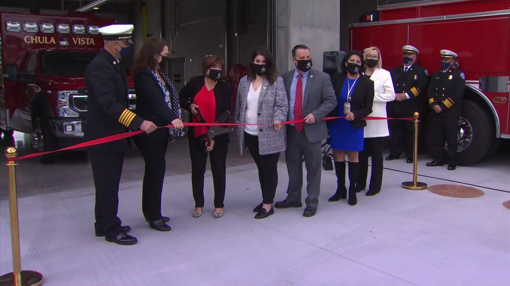 Chula Vista leaders celebrate the completion of its new fire station in District 4.