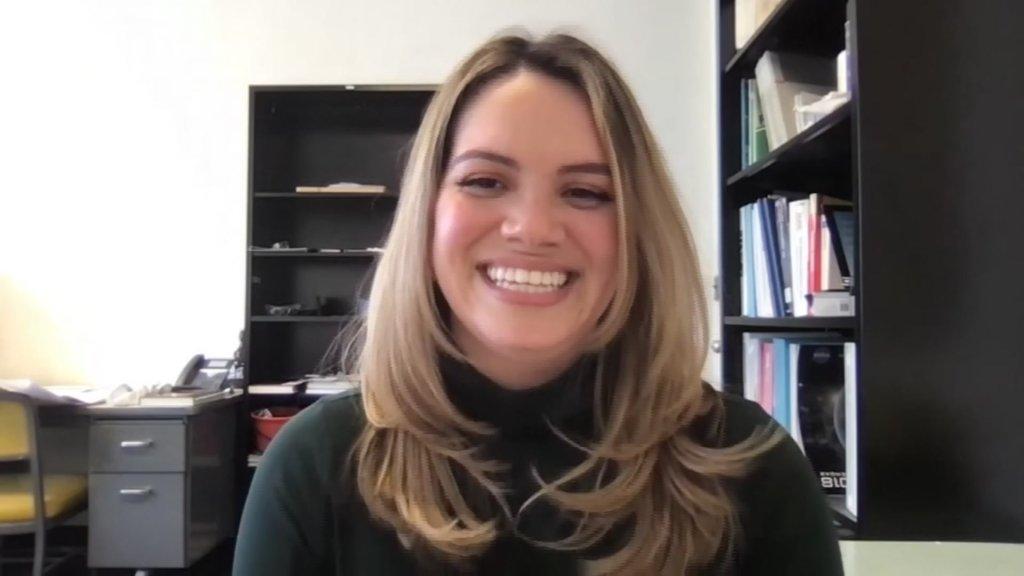 NASA engineer Cynthia Sarmiento speaks to Telemundo in a virtual interview.