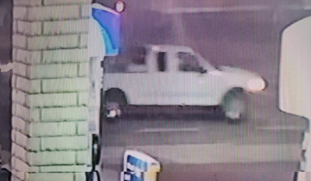 The La Mesa Police Department is searching for this white Ford pickup truck that may be linked to a suspicious death from February 2021.