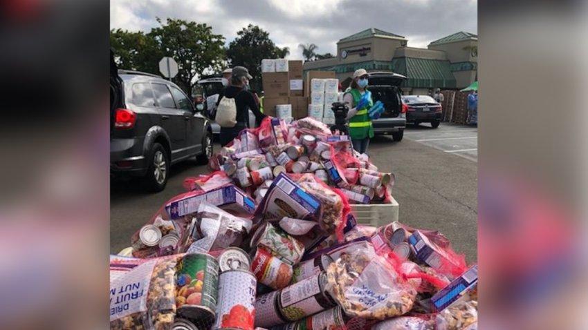 One of San Diego Food Bank's food distributions.