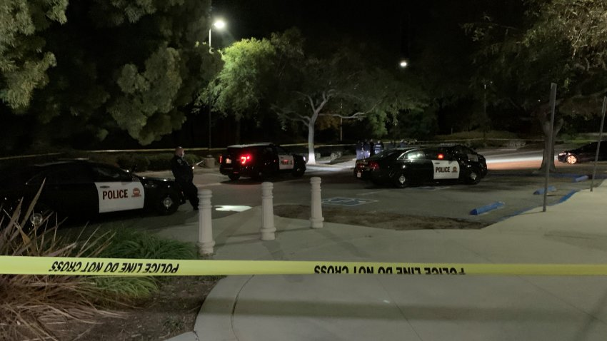 The scene of a homicide investigation at Sunset View Park in Chula Vista.
