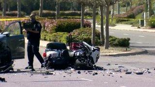 CHP motorcycle officer injured in crash