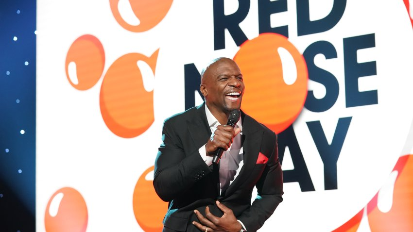 Pictured: Actor Terry Crews, Red Nose Day