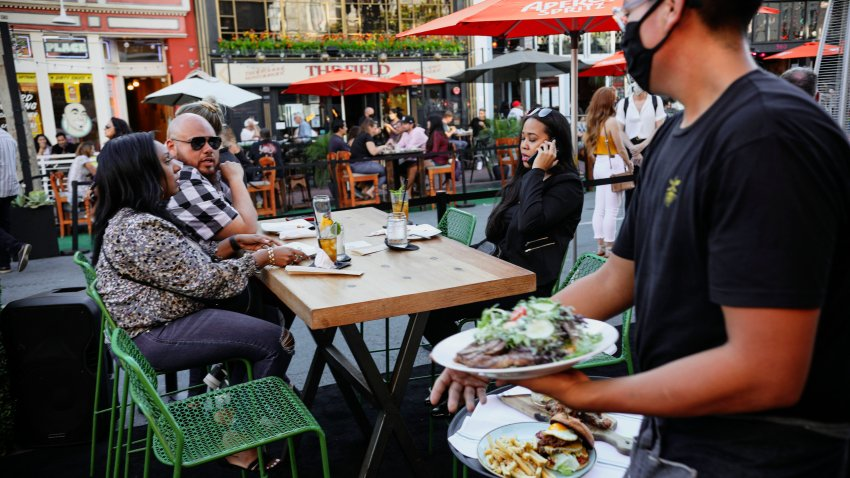 Outdoor dining in San Diego