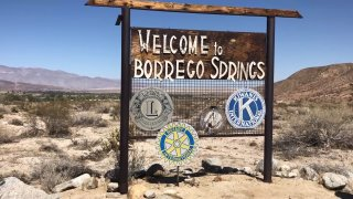 Welcome to Borrego Springs sign