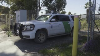 U.S. Customs and Border Protection responds to the scene of a death investigation on Thursday, April 29, 2021.